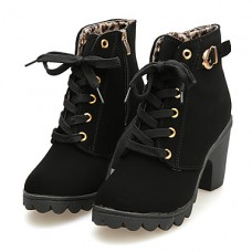 Women's Faux Suede Casual Buckle Boots