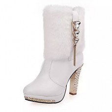 Women Cotton High-heeled Snow Boots