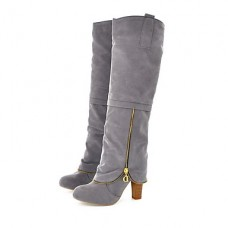 Women's Chunky Heel Knee High Boots