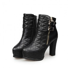 Women's Comfort PU Casual Zipper Boots