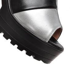 Women's Casual Platform Leatherette Clog