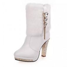 Women Cotton Warm High-heel Shoes