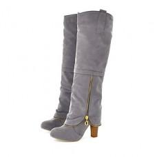 Women's Chunky Heel Knee High Boots