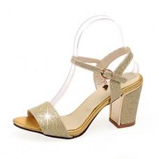 Women's Chunky Heel Open Toe Sandals