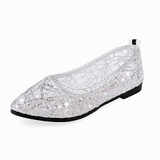Women's Comfort Pointed Toe Tulle Ballet Flats