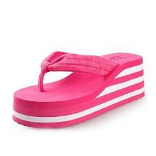 Women's Shoes PVC Flat Heel Flip Flops