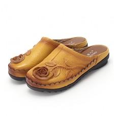 Women's Slingback Leather Flip-Flops