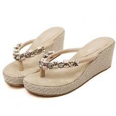 Women's Shoes Wedge Heel Flip Flops