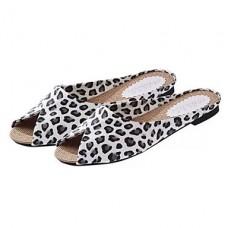 Women's Peep Toe PU Casual Flip-Flops