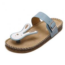 Women's Summer Pigskin Casual Flip-Flops