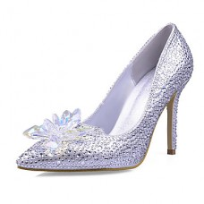 Women's Synthetic Glitter Stiletto Heels