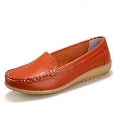 Women's Fall Comfort Leather Casual Flats