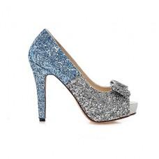 Women's Stiletto Heel Peep Toe Pumps