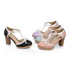 Women's Chunky Heel Peep Toe Pumps