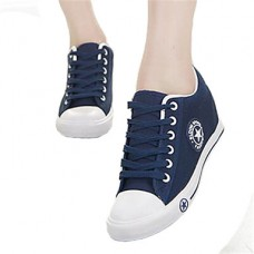 Women's Low Heel Round Toe Sneakers