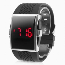Men's Red LED Digital Watch