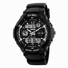 Men's Japanese Quartz Analog-Digital Watch