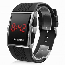 Men's Red LED Calendar Watch