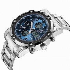 Men's Japanese Quartz LCD Watch