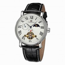 Men's Roman Leather Automatic Watch