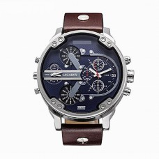 Men's Military Quartz Leather Watch
