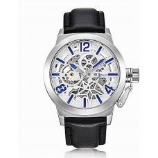 Men's Skeleton Mechanical Army Watch