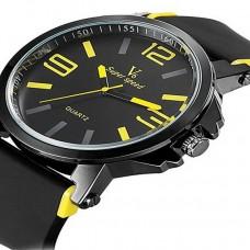 Mens Quartz Sport Silicone Band Watch
