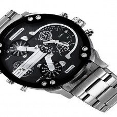 Men's Calendar Dual Time Zones Watch