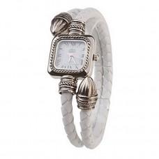 Women PU Rope Band Quartz Bracelet Watch