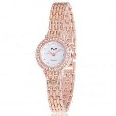 Women Imitation Diamond Bracelet Watch