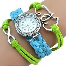 Women Dual Time Zones Bracelet Watch