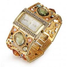 Women Golden Diamond Bracelet Watch