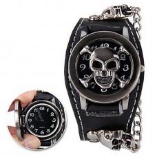 Women's Fashion Skull Metal Leather Watch