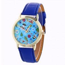 Women Fashion Leather Christmas Watch