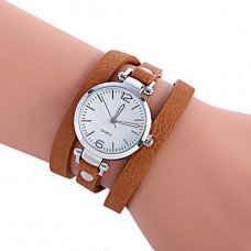 Women Fashion PU Band Bracelet Watch