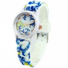 Women's Flower Pattern Silicone Watch