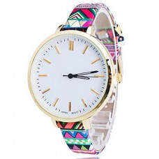 Women Flower White Round Quartz Watch