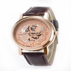 Women's Skeleton Rose Gold Quartz Watch
