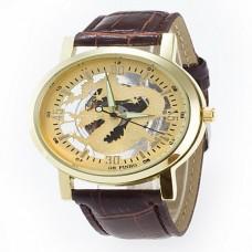Women's Skeleton Gold Dial Quartz Watch