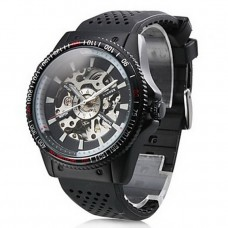 Men's Auto-Mechanical Rubber Band Watch
