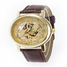 Women's Skeleton Gold Roman Quartz Watch