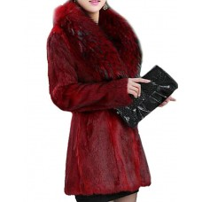 Women's Solid Color Fur Coat