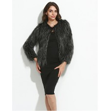 Women Top Winter Faux Fur