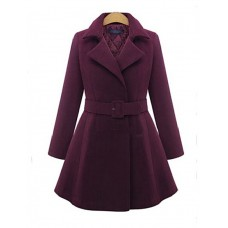 Women's Long Sleeve Tweed Coat