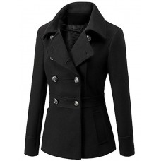 Women's Slim Waist Woolen Coat