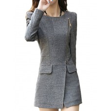 Women's Sexy V Neck Long Coat