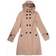 Women's Long Sleeve Hooded Coat