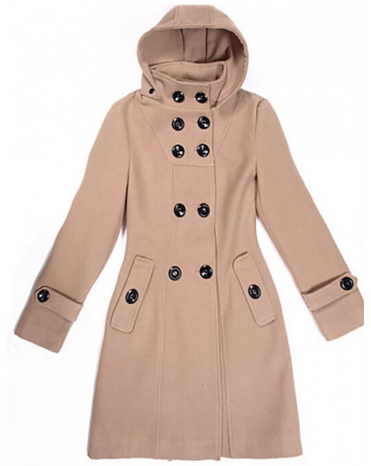 Women's Long Sleeve Hooded Coat