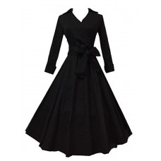 Women's Solid Sleeve Work Dress