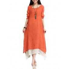 Women's Patchwork Loose Thin Dress